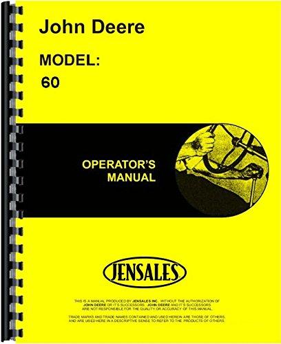 John Deere 60 Tractor Operators Manual