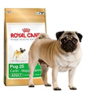 """Complete feed for dogs – Specially for adult and mature Pugs – Over 10 months old HEALTHY SKIN This formula helps support the skin's """"barrier"""" role (exclusive complex) and maintain skin health (EPA & DHA). IDEAL WEIGHT This formula helps maintain the..."""