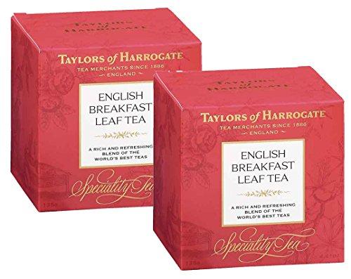 Taylors of Harrogate Té Nero English Breakfast Sfuso Foglia Allentata Ricco e Rinfrescante - 2 x 125 Grammi