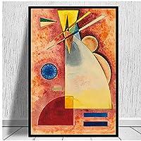 BGGGTD ポスター キャンバスアート絵画による抽象的な幾何学的なアートワークポスターとプリント複製壁の写真家の装飾は-50x70x1フレームなしをパーソナライズします