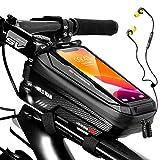 Lsooyys Sac de rangement étanche pour cadre de vélo - Pour écran tactile - Avec trou pour casque...