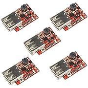 HiLetgo 5pcs DC-DC Buck Step Down Module 6-24V 12V/24V to 5V 3A USB Charger Module Arduino