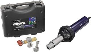 Weldy 1600W Professional Hot Air Equipment Hot Blast Torch Overlap Air Welding Gun Welder Pistol Tool Hot Air Gun(120 Voltage and flat nozzle)