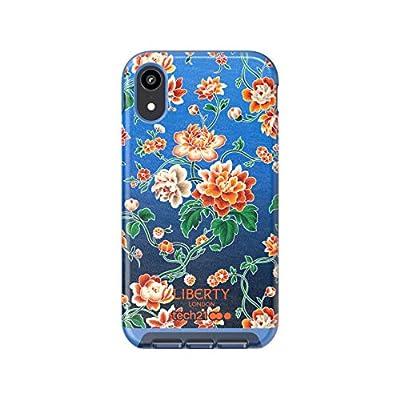 Tech21 EVO Luxe Liberty Grace - Carcasa para iPhone XR (Ultrafina), Color Azul