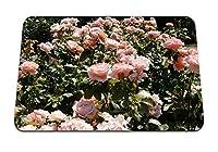 22cmx18cm マウスパッド (バラ花茂みたくさん美しさ優しさ) パターンカスタムの マウスパッド