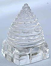 Jaipur Gems Sri Yantra Crystal Quartz Shree Yantra-blessed & Energized For Spiritual Powers, Correcting Vaastu Doshas (imbalances), Enormous Wealth & Prosperity White 20 Grams