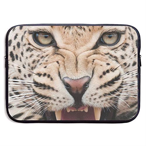 Laptop Sleeve Case Cover Bag, Computer Travel Pocket Pouch Handbag Compatible, Portable Tablet Slipcases Carry Bag for MacBook/HP/Acer/Asus/Dell Leopard 13 15 inch