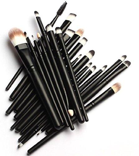 MELADY 20pcs Multi-function Pro Cosmetic Powder Foundation Eye shadow Eyeliner Lip Makeup Brushes Sets (Black) Mississippi