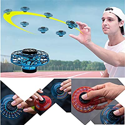 UNSKAM Professional Hand Operated Drone for Kids Adults, Hands Free Full Cover 3D Rolling Induction Mini Drones for Kids, Easy Indoor Hand Drone, Hover Flying Ball Drone