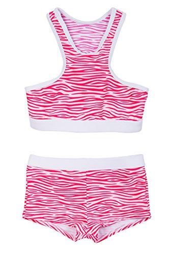 La-V Mädchen Bikini Zweiteilig Sport Rosa/Größe 152/158
