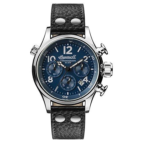 Ingersoll Herren Analog Quarz Uhr mit Leder Armband I02001