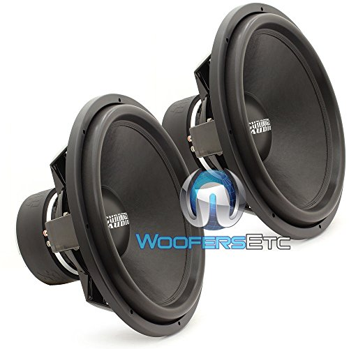 Pair of Sundown Audio SA-18 REV3 D4 18' 750 Watts RMS Each Dual 4-Ohm Subwoofers
