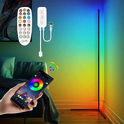 Corner Floor Lamp - RGB Color Changing LED Floor Light with Remote Mood Night Lighting 20W 56