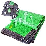 Malla Sombra, 85% Shade Cloth Green Sunblock Fabric con Resistencia a Los Rayos UV, Sun Shade Mesh Cover para Patio/Pérgola/Toldo, Moho y Resistencia a La Intemperie (Size : 3m x 4m)
