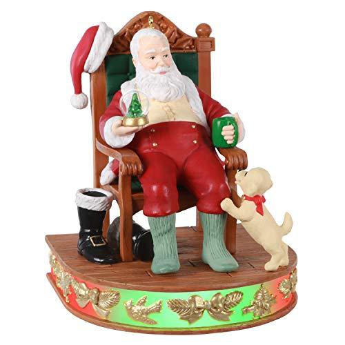 Hallmark Keepsake Ornament 2020, Santa Claus Once Upon a Christmas A Job Well Done, Musical With Light