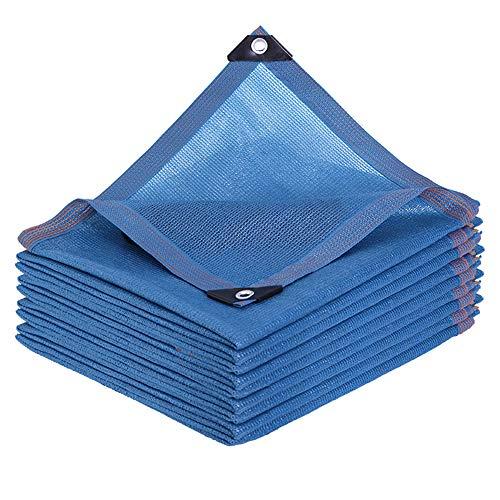 Shade Net Red de sombreado al Aire Libre de Gran tamaño Sombra de jardín, decoración Azul, sombrilla, protección Solar para terraza