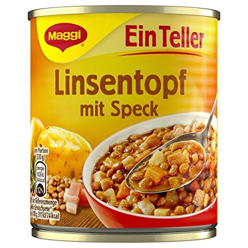 Maggi 1 Teller Linsentopf mit Speck, 10er Pack (10 x 330 g Dose)