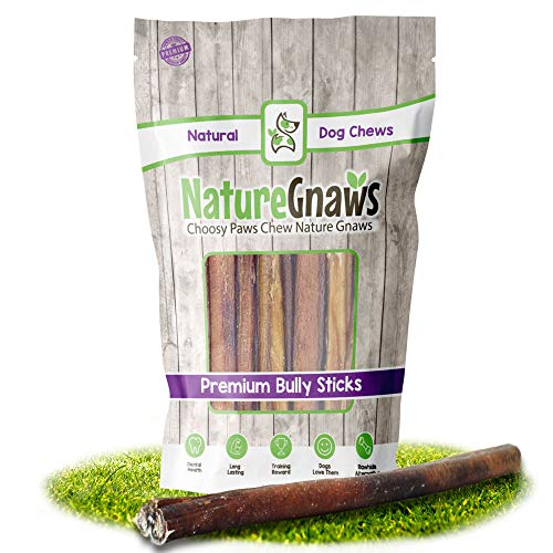 Nature Gnaws Bully Sticks for Dogs - Premium Natural Tasty Beef Bones - Simple Long Lasting Dog Chew Treats -...