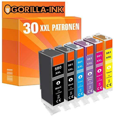 Gorilla-Ink 30 Cartuchos de Tinta Compatible con Canon PGI-580 XXL CLI-581 XXL | para Pixma TS 6351 8120 8150 8151 8152 8220 8240 8241 8242 8250 8251 8252 8350 8351 8352 9150 9155