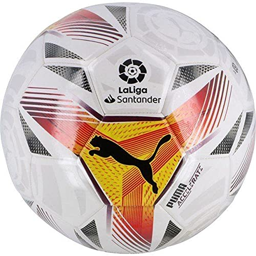 Puma Unisex's LaLiga 1 Acelerate MS Ball Training Blanco-Multicolor, 3