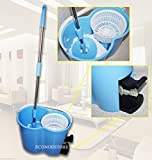 Two Way Easy Spin Magic Mop W/2 Microfiber Head Spinning Fast Cleaning & Bucket
