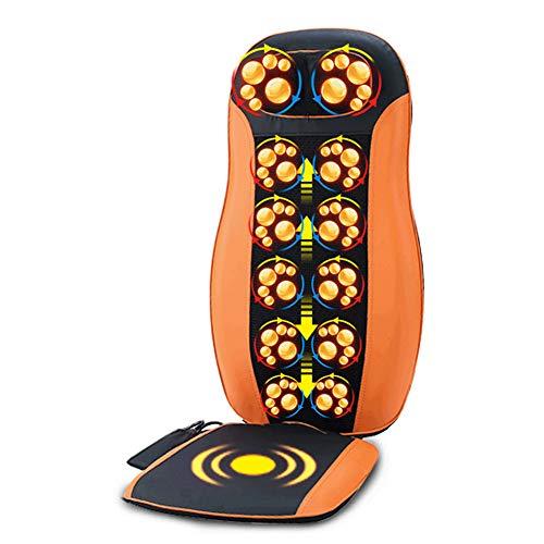 CKAN Funda para sillón de Masaje Shiatsu con Cabezal de Masaje 3D, Asiento Masajeador Amasamiento Profundo para automóvil, el hogar y la Oficina,Naranja