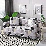 WXQY Funda de sofá elástica Funda de sofá elástica elástica Fractal para Sala de Estar Funda de sofá en Forma de L Funda de sillón, Funda de sofá A23 2 plazas