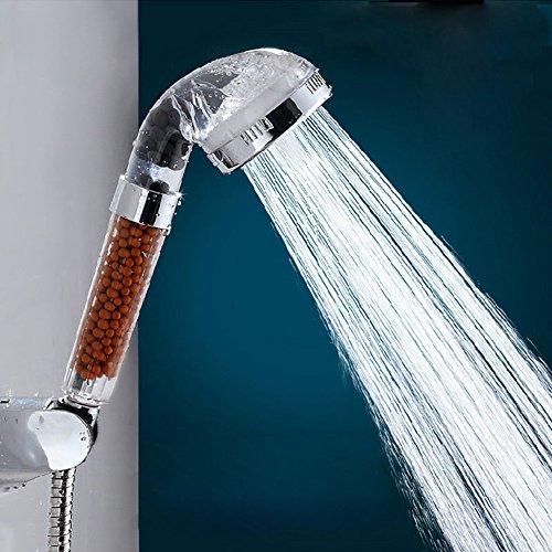 DKEyinx Cabezal de Ducha iónico de Alta presión, Ahorro de Agua, eliminación de Cloro, Agua purificada, aspersor de baño Grifo de Agua para baño