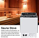 SUMUZE Stainless Steel Bathroom Sauna Stove Heating Temperature Sauna Oven Heater, Sauna Stove