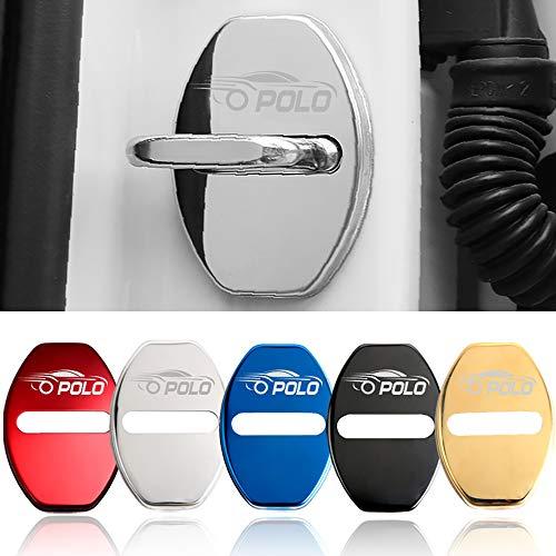 4 stks/set Anti Roest Autodeurslot Beschermhoes Voor Volkswagen Polo Auto Styling Accessoires