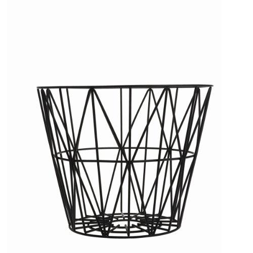Ferm Living Wire Drahtkorb Medium, schwarz Ø 50cm H 40cm