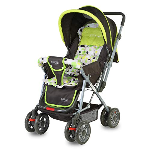 LuvLap Sunshine Stroller/Pram, Easy Fold, for Newborn Baby/Kids, 0-3 Years (Light Green)