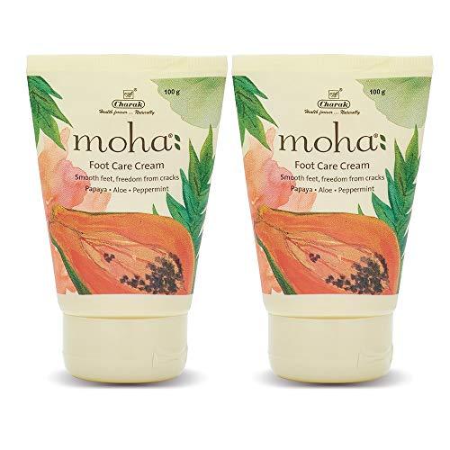 moha: Foot Care Cream (100 Gram ( Pack Of 2 )) For Rough, Dry and Cracked Heel   Feet Cream For Heel Repair   Unisex Foot Cream.