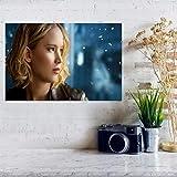 MXIBUN Jennifer Lawrence Leinwand Malerei Poster