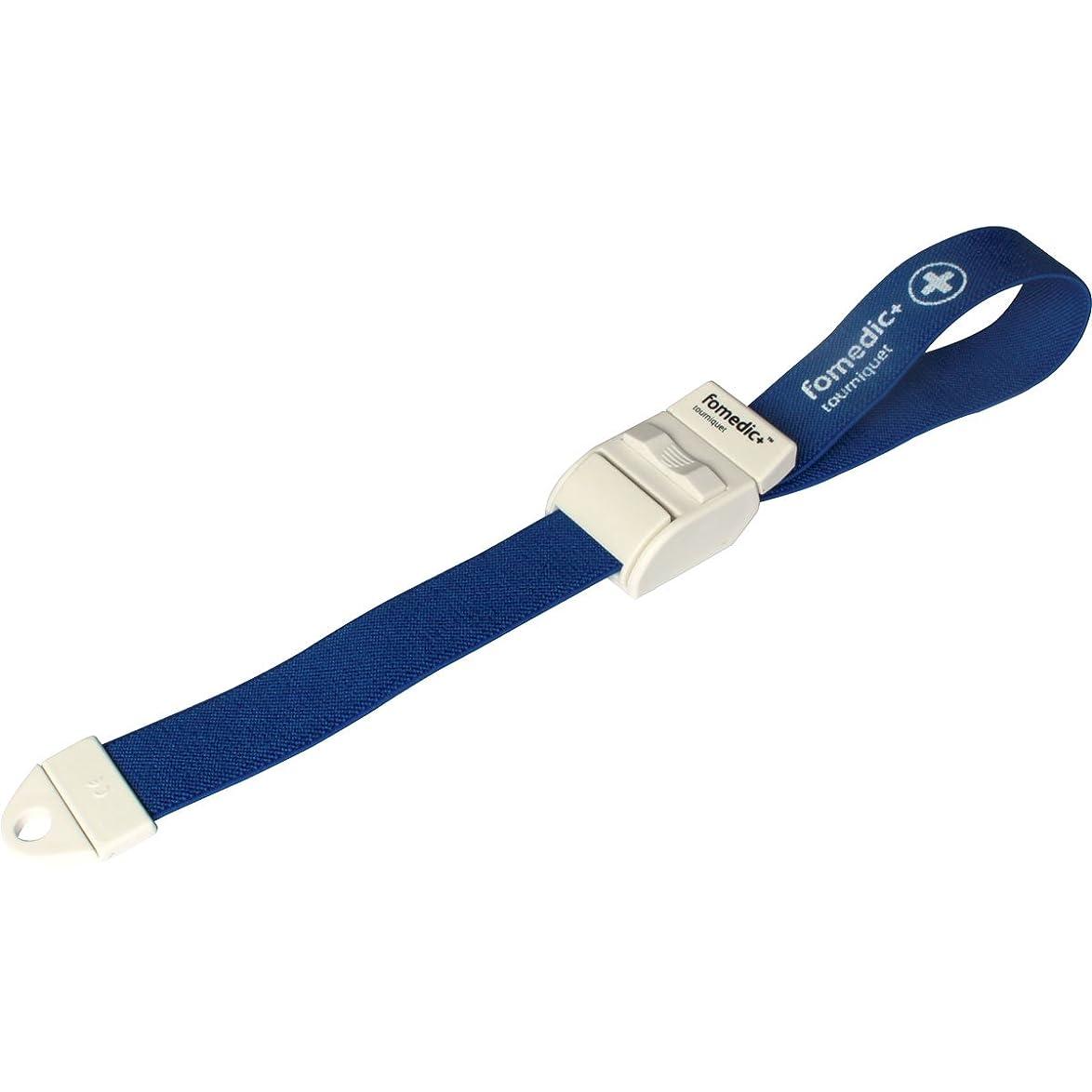 繁栄する投票剥ぎ取るフォーメディックプラス ワンタッチ駆血帯 CL100 ブルー×5個セット