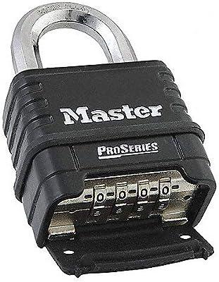MasterLock 1178D Combination Padlock, Die Cast Body, 3 Pack Black/Silver
