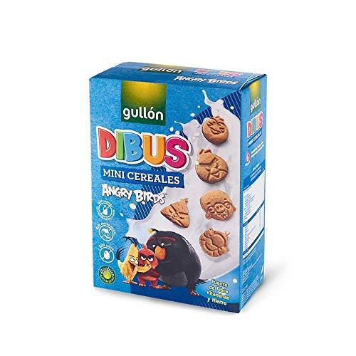 Gullón Galletas Cereales Dibus Mini Angry Birds, 250g