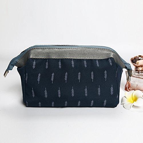 MZP Mme Corée du forfait d'admission cosmétiques grand sac à main portable sac étanche cosmétiques Voyage Voyage lavage trompette sac , blue feathers