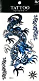 NipitShop 1 Sheet Temporary Tattoo Large 3D Dragon Blue Waterproof Removable Body Stickers Sexy Tattoo