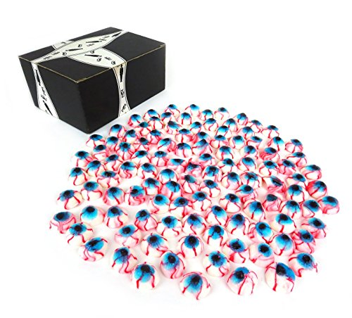 Vidal Gummy Eyeballs, 2.2 lb Bag in a BlackTie Box