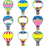 54 Pieces Colorful Hot Air Balloon Cutouts Hot Air Balloon Name Tags Labels Accents for Classroom Decor Bulletin Board School Playroom Baby Nursery Kids Bedroom Art Studio