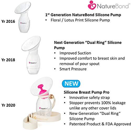NatureBond(ネイチャーボンド)『シリコンストッパーとストラップ付きシリコン搾乳ポンプ』