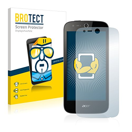 BROTECT Schutzfolie kompatibel mit Acer Liquid M320 (2 Stück) klare Bildschirmschutz-Folie