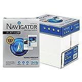 Grupo Portucel Soporcel. Navigator NPL11245R Multipurpose Paper - Platnium Office Letter 8.5 x 11 24lb Smooth 99% Brightness 500 x Sheet White