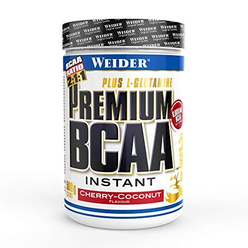 Weider Premium BCAA Powder Aminoacidi Ramificati, Ciliegia e Cocco - 500 Gr