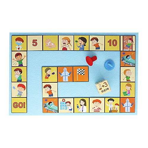 ZXYSMM Kinderspielzeug Anti-Epidemie-Virus Puzzle Brettspiel Lernhilfen/photo color