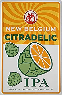 New Belgium - Citradelic IPA - Stamped Steel Sign/Tacker