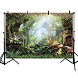 MEHOFOTO Photo Background Fairy Tale Enchanted Forest Birthday Party Decoration Banner Children Backdrops Props for Photography 7x5ft