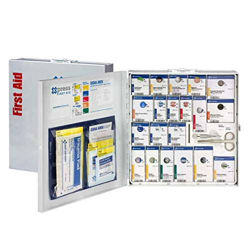 Xpress First Aid 50 Person Large Metal SmartCompliance First Aid Cabinet Without Medications