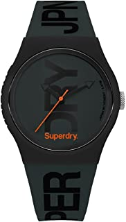Superdry Urban Brand Fluoro Analogue Matte Green Dial Green Silicon Watch For Men - SYG189NB